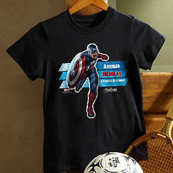 Black Personalized Avengers Kid's T-Shirt
