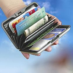 Indestructible Silver Aluminum Wallet