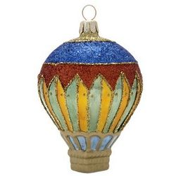 Harlequin Blown Glass Christmas Ornament