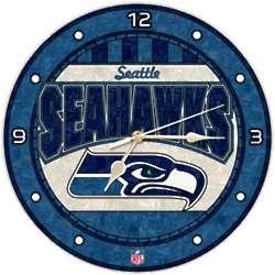 Seattle Seahawks Art-Glass Wall Clock