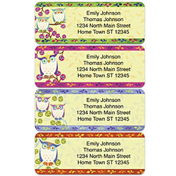 Awesome Owls Personalized Address Labels