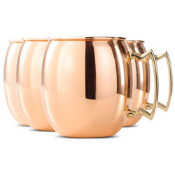 4 Copper Moscow Mule Mugs