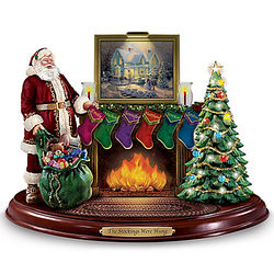 The Stockings Were Hung Personalized Thomas Kinkade Sculpture
