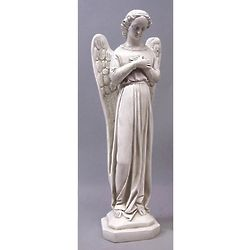 "21"" Angel Cari Cross Hands Statue"