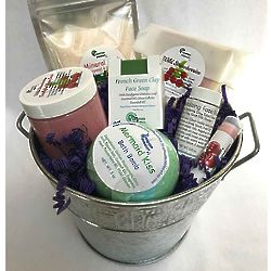 Soap and Skin Care Pampering Gift Bucket Set