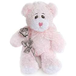 Pink Bear and Kissing Rose
