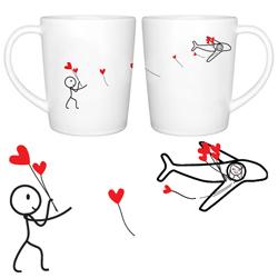 No Matter The Miles Couple Coffee Mug Set