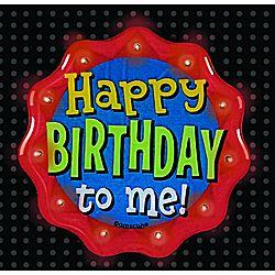 Happy Birthday To Me Flashing Button