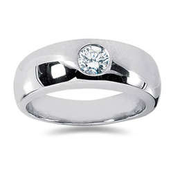 0.50 ctw Men's Diamond Ring in Palladium