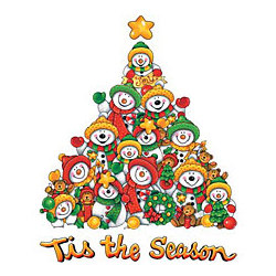Tis The Season-Snowmen T-Shirt