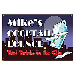 Personalized City Cocktail Lounge Sign