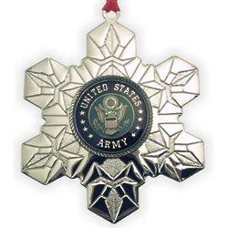 Personalized US Army Military Service Christmas Ornament