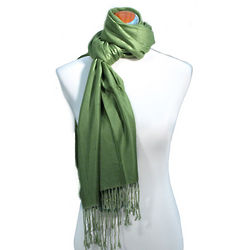 Juicy Sateen Green Pashmina Wrap