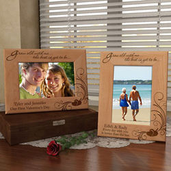 Personalized Grow Old with Me Wooden Picture Frame