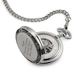 Skeleton Face Pocket Watch