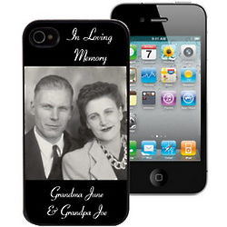 Personalized Memorial Photo iPhone 4 and 4S Case