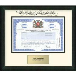 Philip Morris Stock Gift Certificate