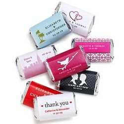 Personalized Hershey's Miniatures Chocolate Wedding Favors
