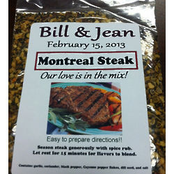 Personalized Montreal Steak Dry Rub Favors