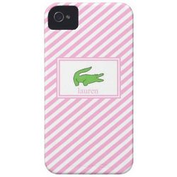 Crocodile Stripe Cell Phone Case