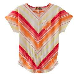 Girl's Chevron Babydoll Top