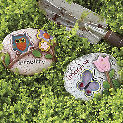 Simplify and Imagine Garden Rocks