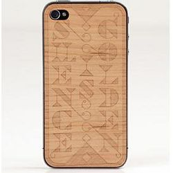 Silence is Golden Wooden iPhone Cover