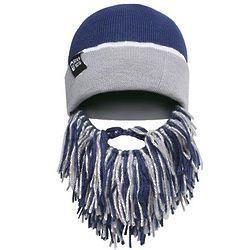 Blue and Silver Barbarian Beard Head