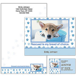 Rescued Is My Breed of Choice Dog Personalized Stationery