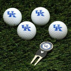 Kentucky Wildcats Golf Balls and Divot Tool Gift Set