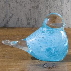 Hand Blown Glass Bird Figurine
