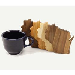 Wisconsin State Variety Wood Coasters
