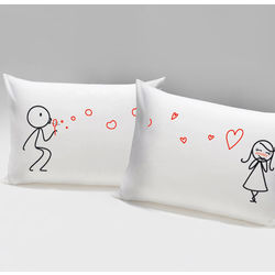 From My Heart to Yours His & Hers Matching Couple's Pillowcases
