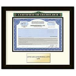 Framed Nissan Certificate