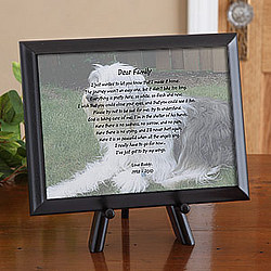 Personalized Pet Memorial Photo & Poem Plaque