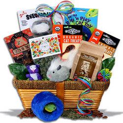 Pampered Cat Gift Basket