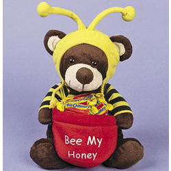 "Valentine ""Bee My Honey"" Plush Teddy Bear"