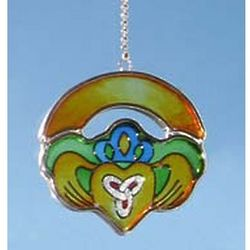 Mini Claddagh Ring Painted Glass Suncatcher