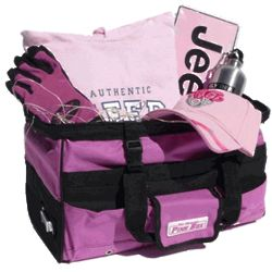 Women's Large Pink Jeep Gift Basket