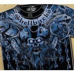 Shellbacks Polywog Beware Navy T-Shirt