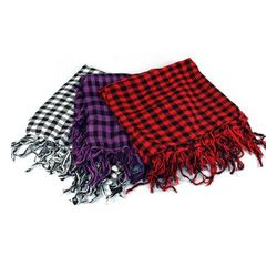 Red Checker Chic Scarf