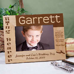 Ring Bearer Wood Picture Frame