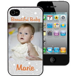 Personalized Beautiful Baby Case for iPhone 4 and 4S