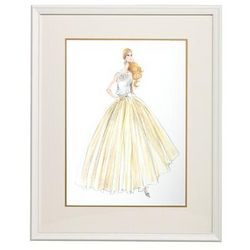Barbie in Couture Evening Dress Framed Print