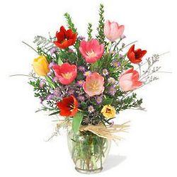 Tulips Vase Bouquet