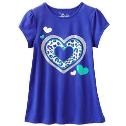 Girl's Jumping Beans Heart Babydoll Top