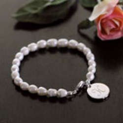 Simplicity Pearl Bracelet with Personalized Initial