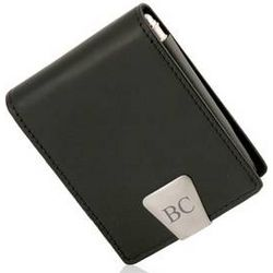 Executive Leather Card Case with Pen