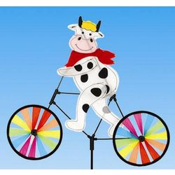 Cow on a Bicycle Wind Spinner
