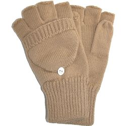 Men's Knit Flip Top Gloves
